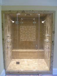 Custom Shower Door Glass Inline Frameless Shower Enclosure Frameless Steam Shower Va
