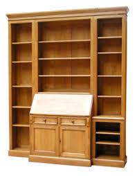 meuble bibliothèque bureau intégré meubles en bois massif sur mesure 108 boulevard de courcelles