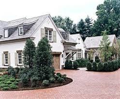 brick drive farmhouse exterior home where the heart is
