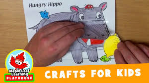 hippo craft for kids maple leaf learning playhouse youtube