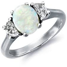 blue opal engagement rings blue nile opal and ring in platinum 9x7mm polyvore