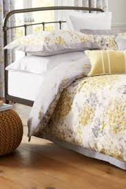 Next Bed Sets Cotton Sateen Ochre Watercolour Floral Bed Set From Next
