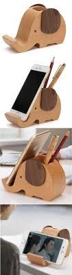 telephone stand desk organizer wooden elephant phone stand holder pen pencil holder desk organizer