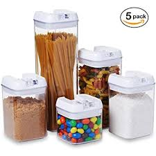 clear canisters kitchen amazon com 5 pc set clear food containers w airtight lids
