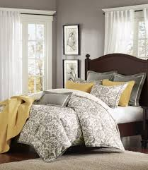 solid white comforter set grey and off white damask comforter set with solid grey flanged