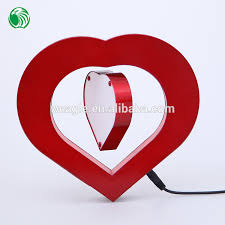 Heart Shaped Items Two Sides Heart Shaped Magnetic Levitation Photo Frame Very Cheap