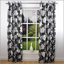 black and white drapes black and white curtains room in red