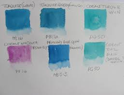 Verditer Blue The Watercolour Log Turquoise Pb16 Pigment Blue 16