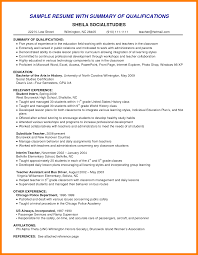 Sample Resume Skills Profile Example Qualifications Summary Administrative With Strenghts And