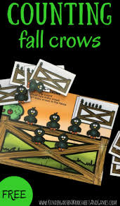 kindergarten worksheets and games free counting fall crows