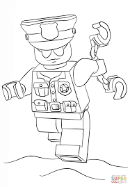 lego police officer coloring page free printable coloring pages