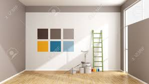 Minimalist Room by Select Color Swatch To Paint Wall In A Minimalist Room Rendering