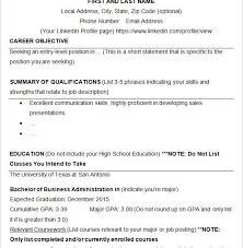 homely ideas college resume sample 8 10 templates free samples