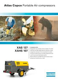 xas 137 xahs 107 atlas copco compressors usa pdf catalogue