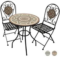 round table woodside rd woodside terracotta mosaic garden table and folding chair set