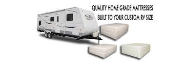 rv camper and travel trailer mattress sizes available