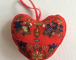 christmas toys set xmas ornaments fabric heart christmas decor