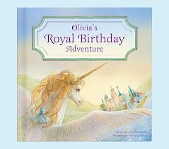 my royal birthday adventure unicorn personalized book pottery