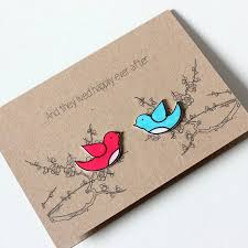 Congratulations Engagement Card Happily Ever After U0027 Love Birds Engagement Card By Little