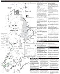 Grand Teton Map Grand Teton National Park Maplets