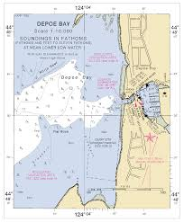 World Map Actual Size Depoe Bay Nautical Chart νοαα Charts Maps