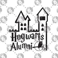 hogwarts alumni sticker hogwarts alumni decal white rabbit vinyl