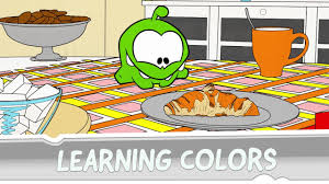 learning colors with om nom coloring book favorite food youtube