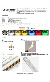 How To Cut Led Strip Lights by Cbconcept Ul Listed Red Dimmable 110 120v Ac Flexible Smd3528