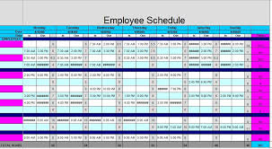 Staffing Schedule Template Excel 12 Free Sle Staff Schedule Templates Printable Sles