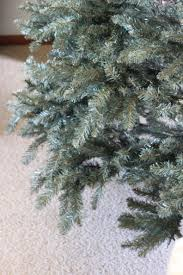 diy flocked christmas tree the holzmanns