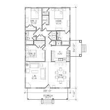 Narrow Floor Plans by Haywood Iii Bungalow Floor Plan Tightlines Designs