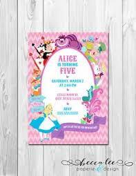 free printable alice in wonderland tea party invitations from
