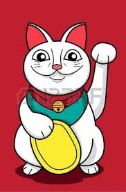 an image of lucky cat in style royalty free cliparts