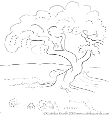 cherry tree in the spring coloring page coloring pages for all