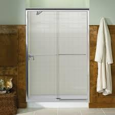 frameless sliding glass shower door kohler fluence 47 5 8 in x 70 5 16 in semi framed sliding shower