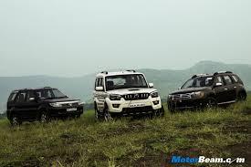 nissan terrano vs renault duster renault duster vs tata safari vs mahindra scorpio picture gallery