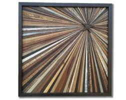 reclaimed wood artwork wall starburst by alleycatdesignst on etsy