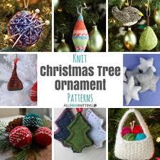 knitted christmas 27 knit christmas tree ornament patterns allfreeknitting