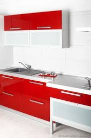 B Jorgensen Co Cabinets Reviews Design Ideas For Modular Kitchen With Red And Wooden Cabinets