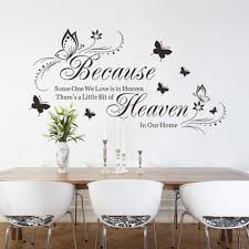 popular becaus buy cheap becaus lots from china becaus suppliers butterfly because someone we love is in heaven inspirational quotes wall stickers bedroom home decor