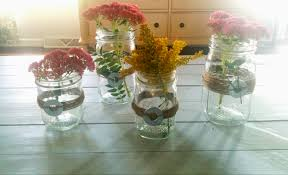 jar centerpieces diy jars and twine fall centerpieces