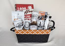 coffee baskets diy coffee gift basket a