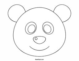 printable panda mask