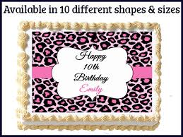 where to print edible images pink cheetah leopard print edible sweet 16 by mycaketopperdesigns