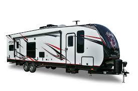travel trailer with garage stryker toy hauler cruiser rv