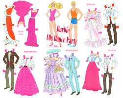 barbie ken 80s dance party paper doll retro 80s fashion vintage