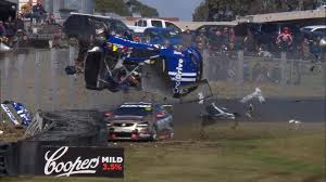 p1 crash youlden wins as hazelwood escapes horror crash supercars
