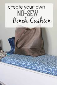 Making A Bench Cushion Diy Bench Cushion No Sewing Required Homestead 128