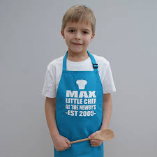 personalised chef childrens apron by sparks clothing