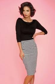 pencil skirts pencil skirt in houndstooth